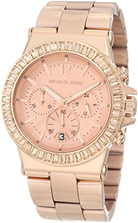 5cde3a977b177 Image Unavailable. Image not available for. Color  Michael Kors Women s  MK5412 Dylan Rose-Tone Watch