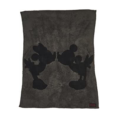 Barefoot Dreams CozyChic Classic Mickey and Minnie Mouse Throw Disney Series Carbon/Black: Home & Kitchen