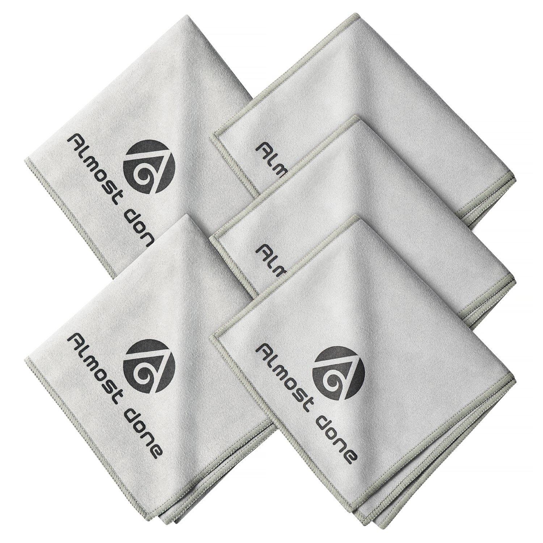 Pack of 5 Microfiber Shoe Cloth - Shoe Shine Buffing Cloth, Leather Polishing Cloth, Shoe Shining Cloth