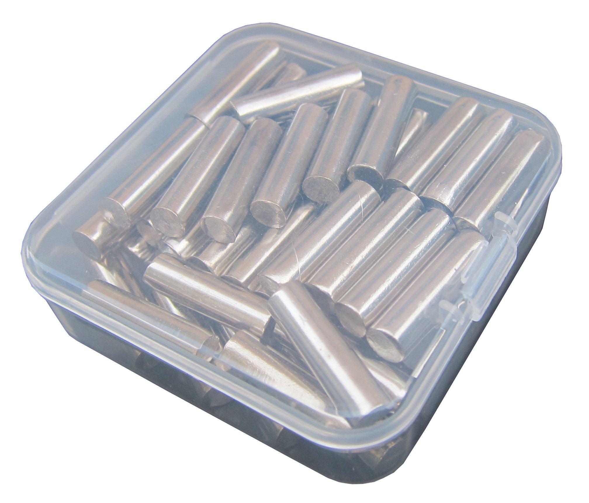 1/4-Inch Straight Rod Shelf Rests 60Piece Set, Furniture Cabinet Closet Shelf Pins, Dowel Pins in Storage Box, 60-Pack (Nickel)