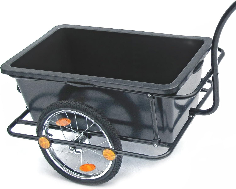 JOM Remolque de Bicicleta, Remolque de Transporte 158 x 69 x 93 cm ...
