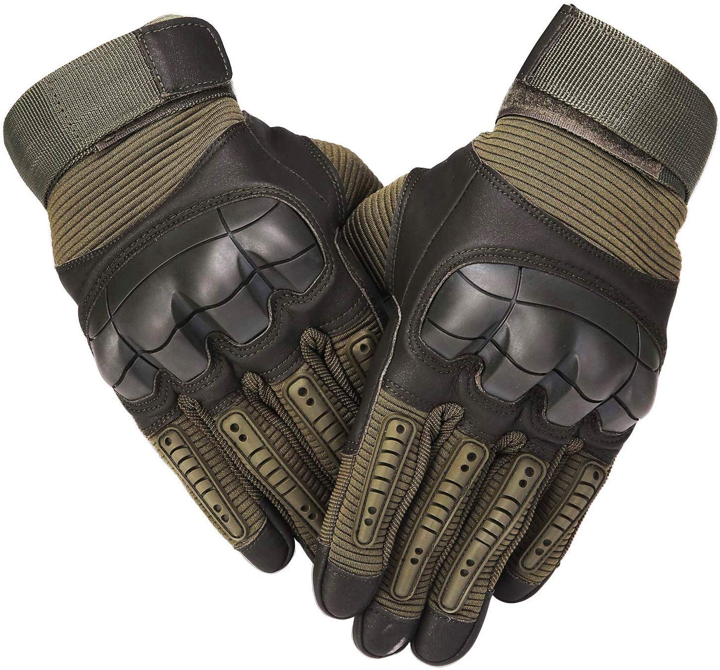 B07F2KCJB7 SHAWINGO Touch Screen Tactical Army Military Rubber Hard Knuckle Gloves for Motorcycle Cycling Hunting Airsoft Paintball Shooting 81fePWpR3AL