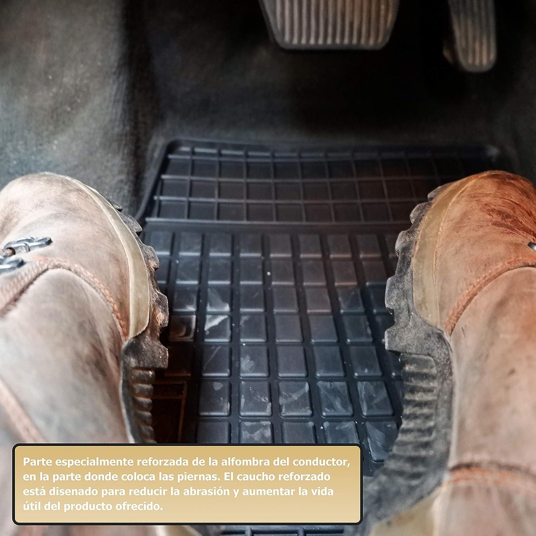 Frogum Alfombrillas Negro Coches de Goma 5-Pieza un Ajuste Renault Scenic II III Grand de 2003