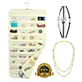 Hanging Jewelry Organizer + Pearl Necklace + 4