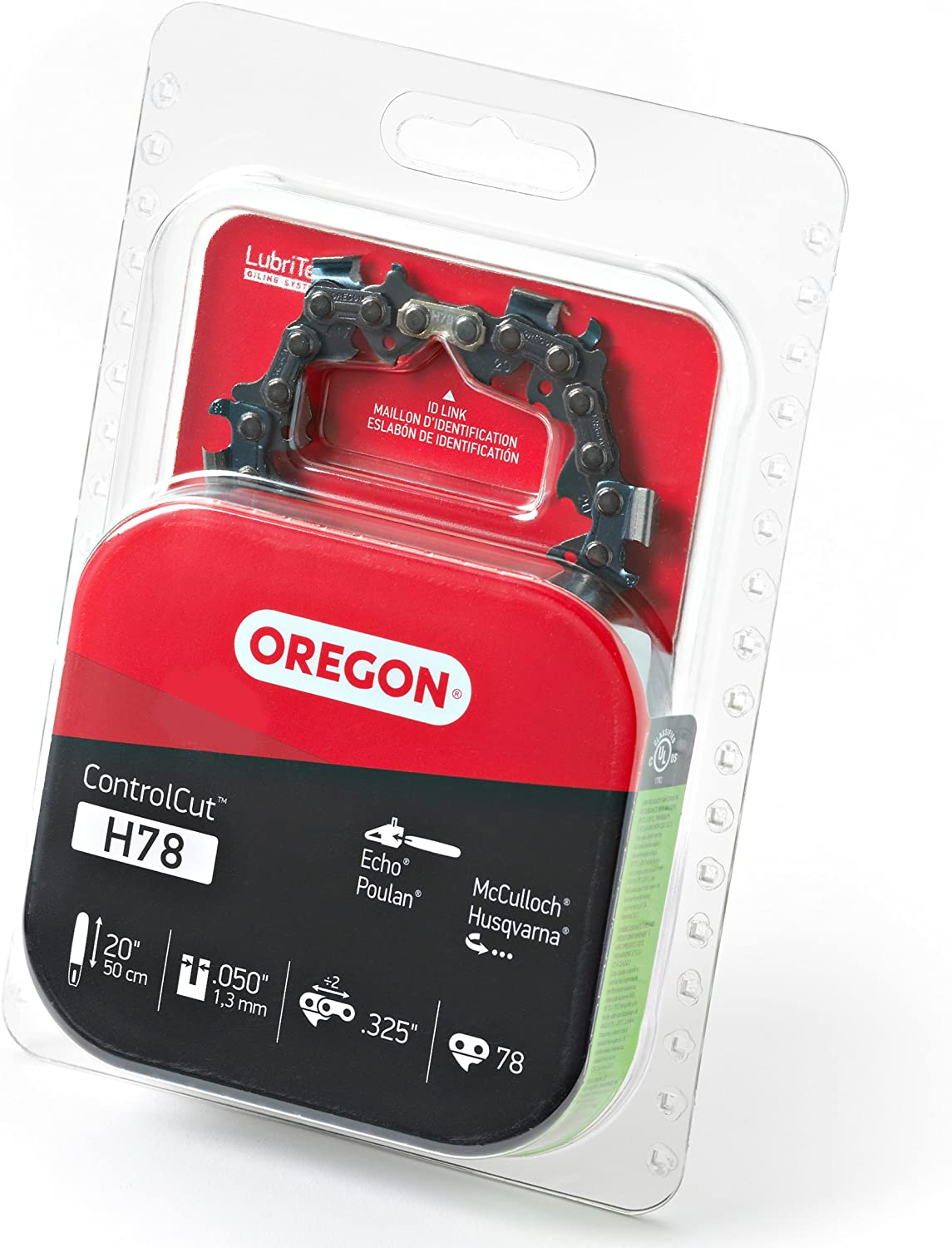Fits Husqvarna Oregon H78 20-Inch ControlCut Chainsaw Chain Jonsered and More 2 Pack