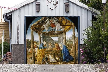 single garage door murals nativity scene garage door banner covers billboard house outdoor christmas holy night