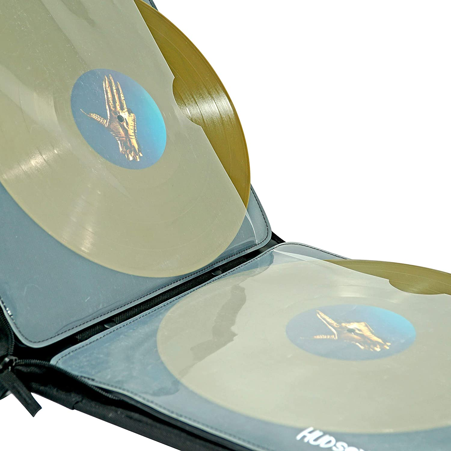 12LP Portable Vinyl Record Storage Carrying CaseWater-Resistant /& Durable