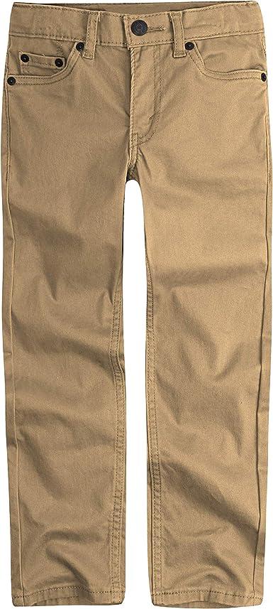 Amazon Com Levi S 511 Pantalones De Tela Cepillada Con Corte Ajustado Para Nino Clothing