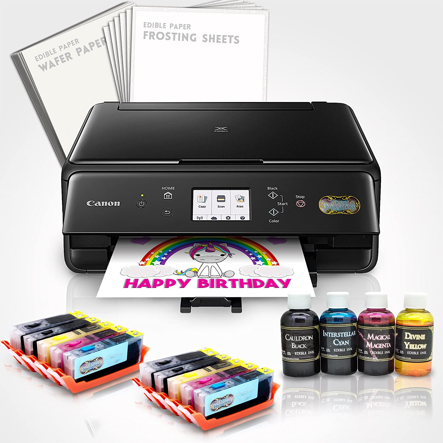 Amazon.com: Edible Printer Bundle - Includes XL Edible Ink Cartridges, XL  Cleaning Cartridges & Frosting Sheets: Electronics