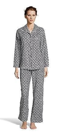 8df4b9ad Kathy Ireland Womens Fleece Micropolar Button Down Pajama Shirt and Pants  Set Black Small