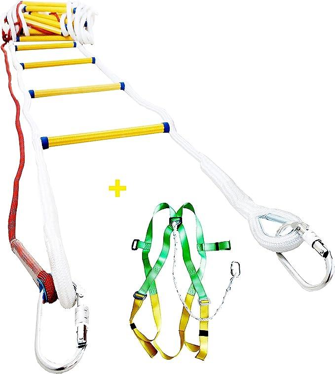10M 5M Dream-cool Escalera De Incendio De Seguridad De Emergencia Resistente A Las Llamas Con Mosquet/ón De Gancho Para Ni/ños Y Adultos Escape De Ventana Y Balc/ón 3M 15M accepted 8M