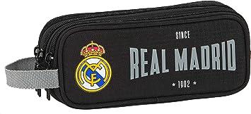 safta Estuche Triple Cremallera de Real Madrid 1902, 210 x 70 x 85 mm: Amazon.es: Equipaje