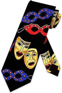 Procuffs Double Mask Drama Theater Opera Comedy Tragedy Tie Clip Black Wedding Clasp