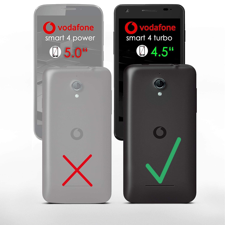 Bolso OneFlow para funda Vodafone Smart 4 Turbo Cubierta con tarjetero | Estuche Flip Case Funda móvil plegable | Bolso móvil funda protectora accesorios ...