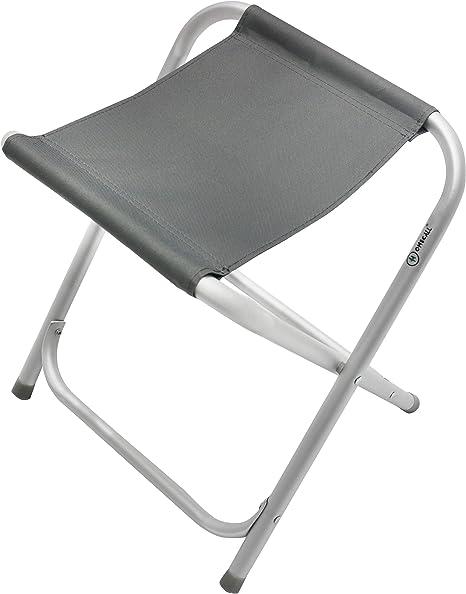 gris Homecall Taburete de camping plegable de aluminio con superficie de MDF