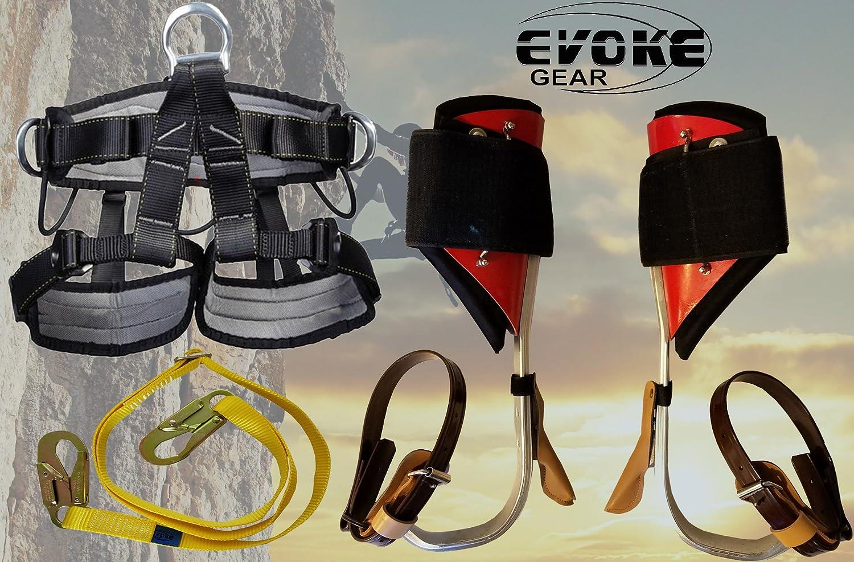 ツリークライミングスパイクセット アルミニウムポールスパークライマー プロハーネスエヴォークギア付き   B0736D1JFG