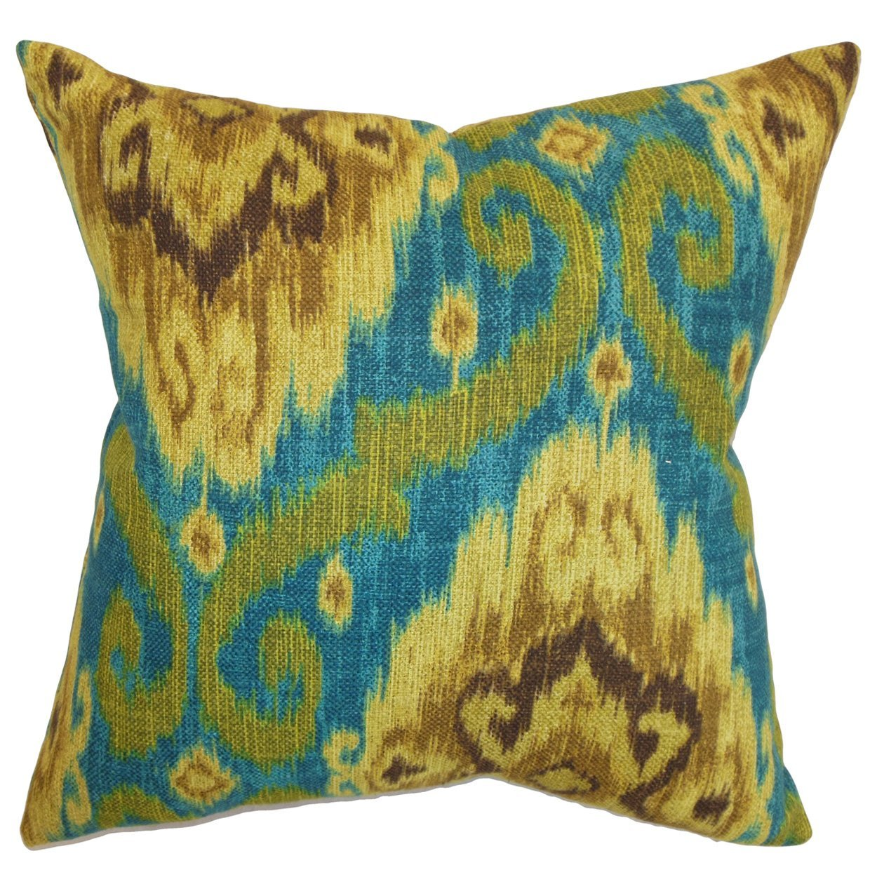 The Pillow Collection Deandre Ikat Bedding Sham Peacock King/20' x 36'