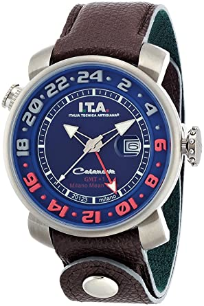 Amazon.com: I.T.A. ITA Casanova GMT + 1 CasanovaGMT + 1 12.60.02: Watches