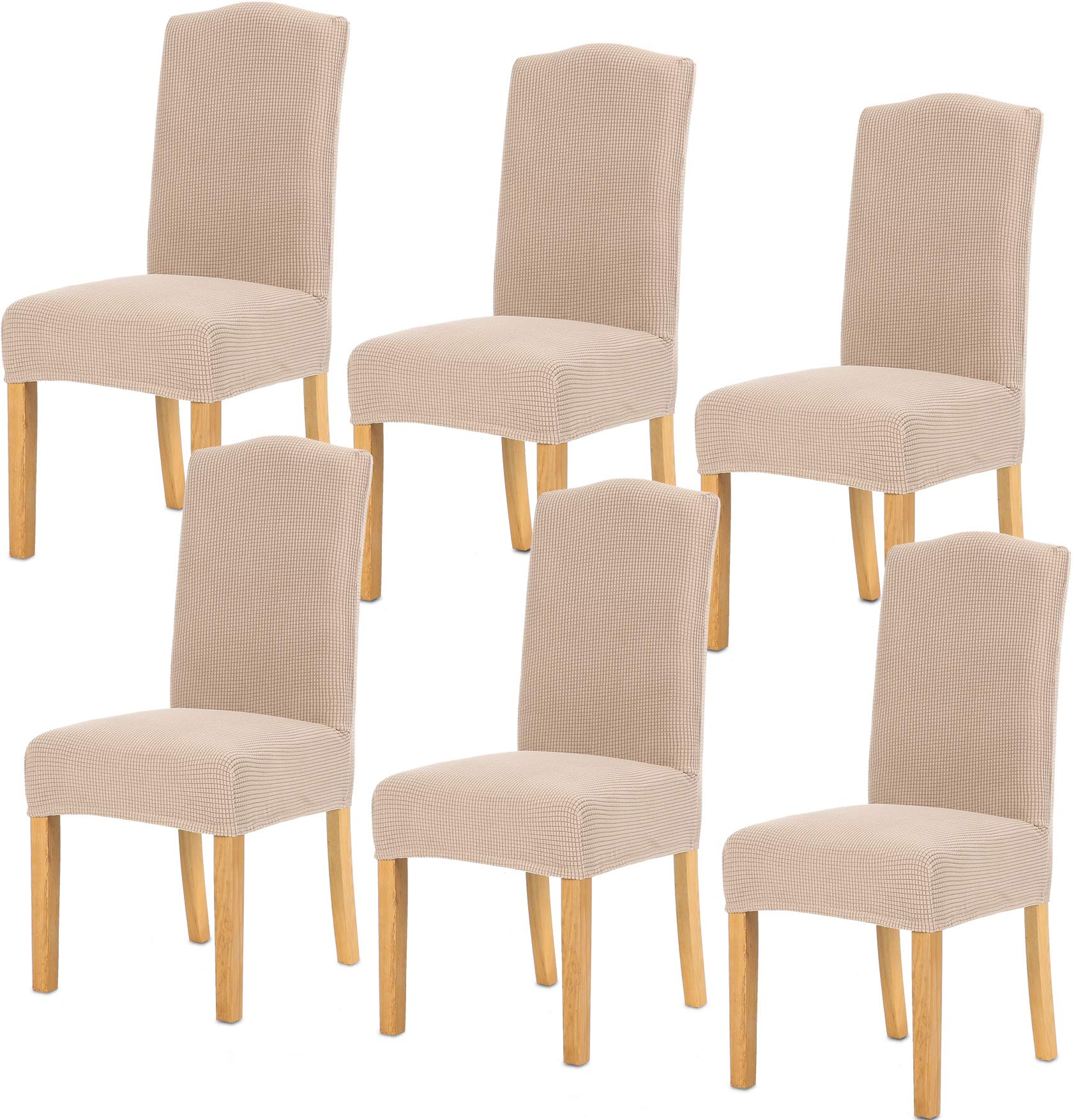 Tianshu Dining Chair Cover Stretch Chair Slipcovers 6 Pack Removable Washable Chair Slipcovers For Hotel Dining Room Ceremony Banquet Wedding Party Decor 6 Pack Sand Buy Online In Dominica At Dominica Desertcart Com Productid 124808868