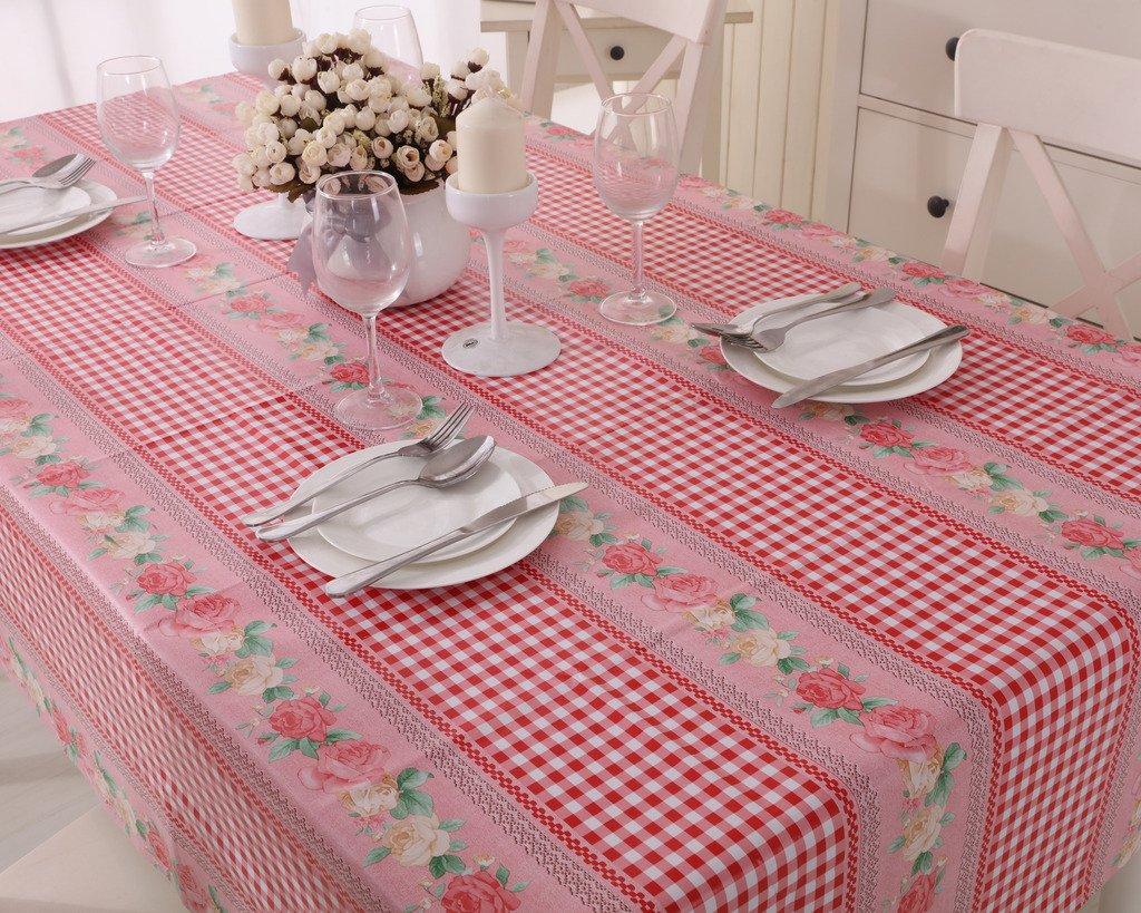 Vinylla English Roses Purple Easy Wipe Clean PVC Tablecloth 140x140cm