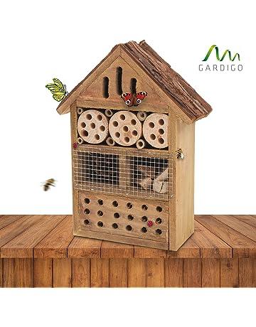 Gardigo 90562 - Hotel para Insectos; Nido Refugio Casa para Abejas Mariposas Mariquitas; Control