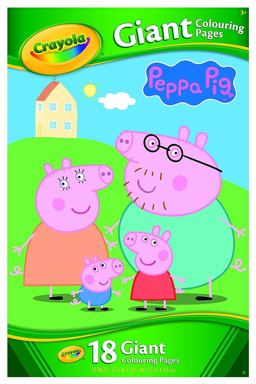 Crayola gigante página para colorear de Peppa Pig: Amazon.es ...