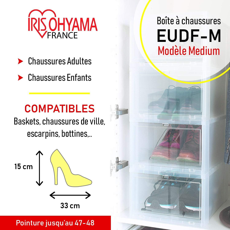 L35 boîtes Mplastiquetransparent14 de pour EUDF 3 rangement Iris à Box Ohyamaset chaussures 18 5 x x Front 28 boîtes chaussures Drop PkZON8n0Xw