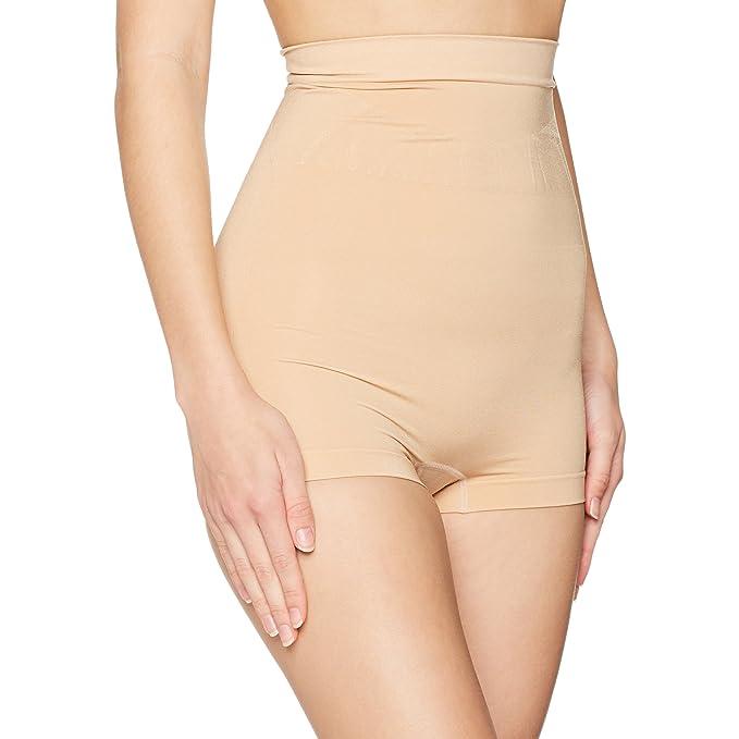 755803a008 FM London Women s High Waist Shapewear Shorts Shaping Half Slip   Amazon.co.uk  Clothing