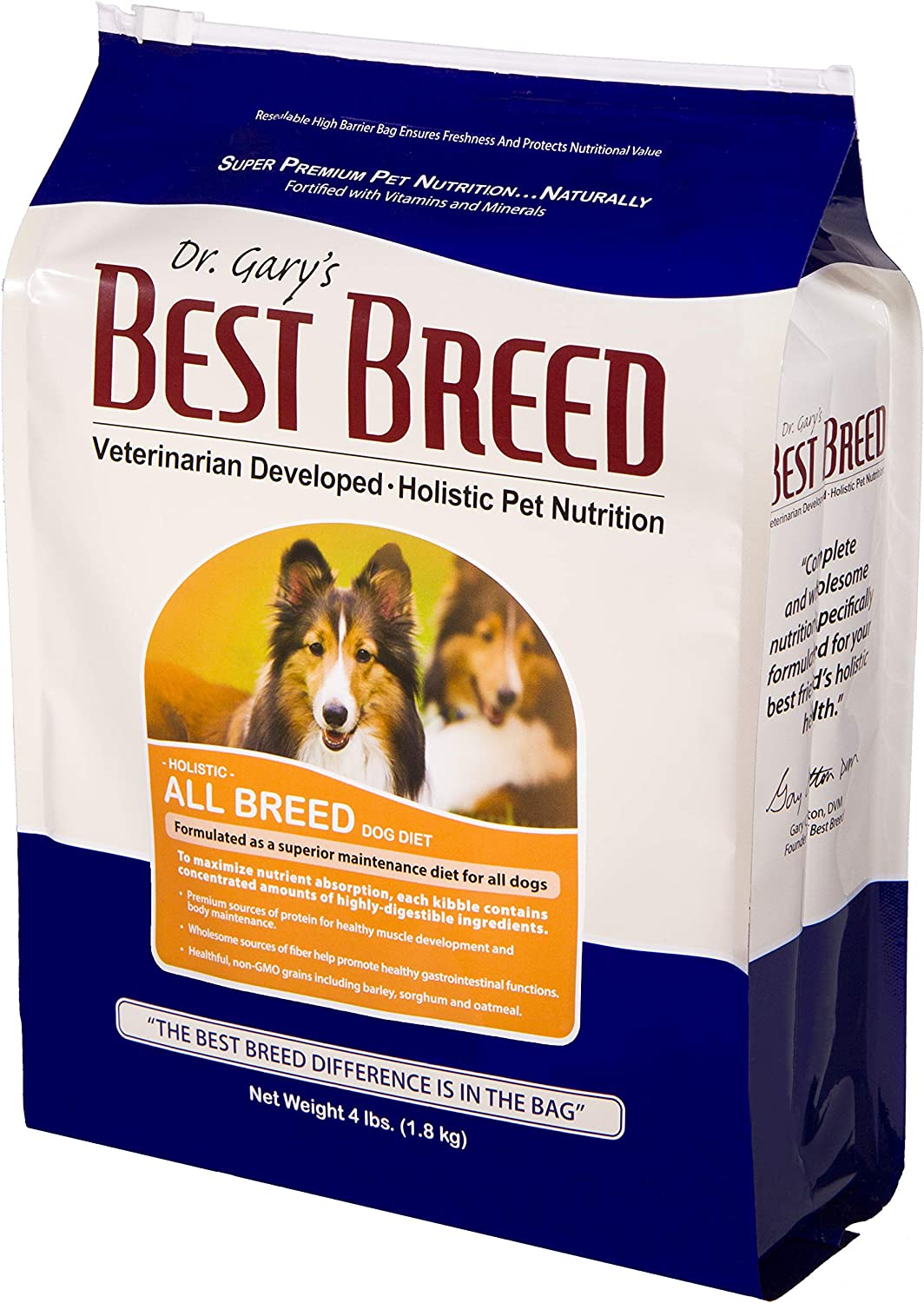 Best Breed All Breed Dog Diet Made in USA [Natural Dry Dog Food for All Breeds and Sizes]- 4lbs.