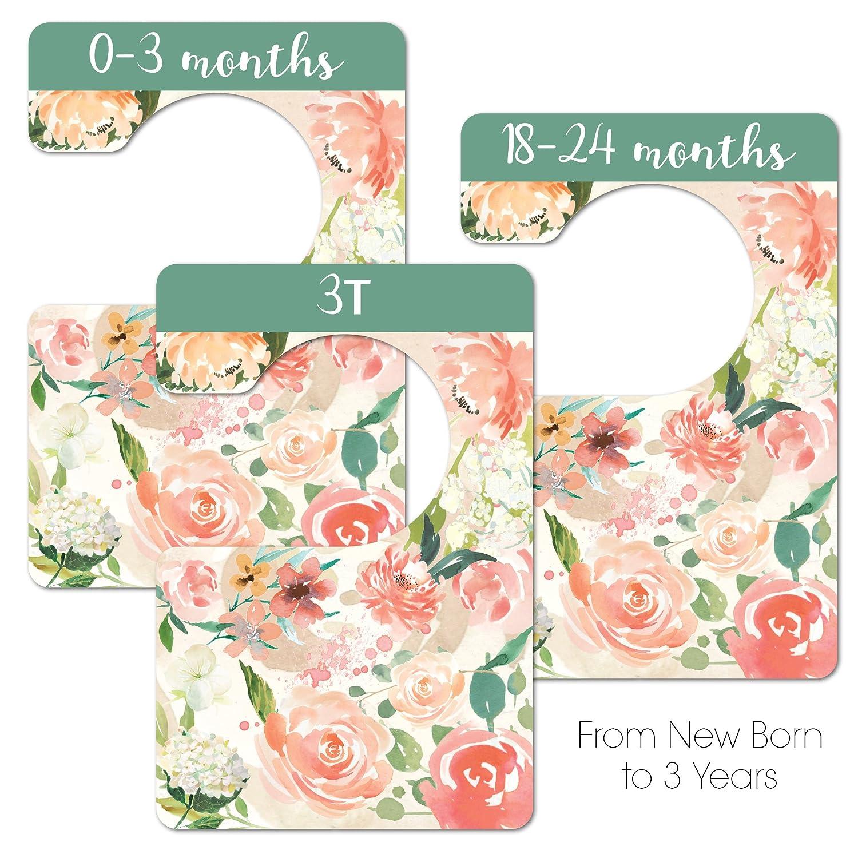 Floral Nursery Closet Dividers, Closet Organizer, Nursery Decor & Baby Gift Nora's Nursery