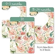 Floral Nursery Closet Dividers, Closet Organizer, Nursery Decor & Baby Gift