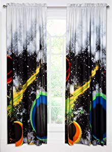 Crayola 'Out of This World' Outer Space Microfiber Single Rod Pocket Curtain Panel