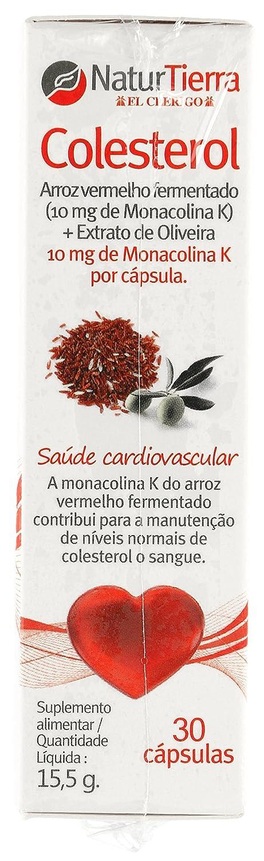 NATUR TIERRA colesterol bote 30 cápsulas: Amazon.es: Salud y cuidado personal