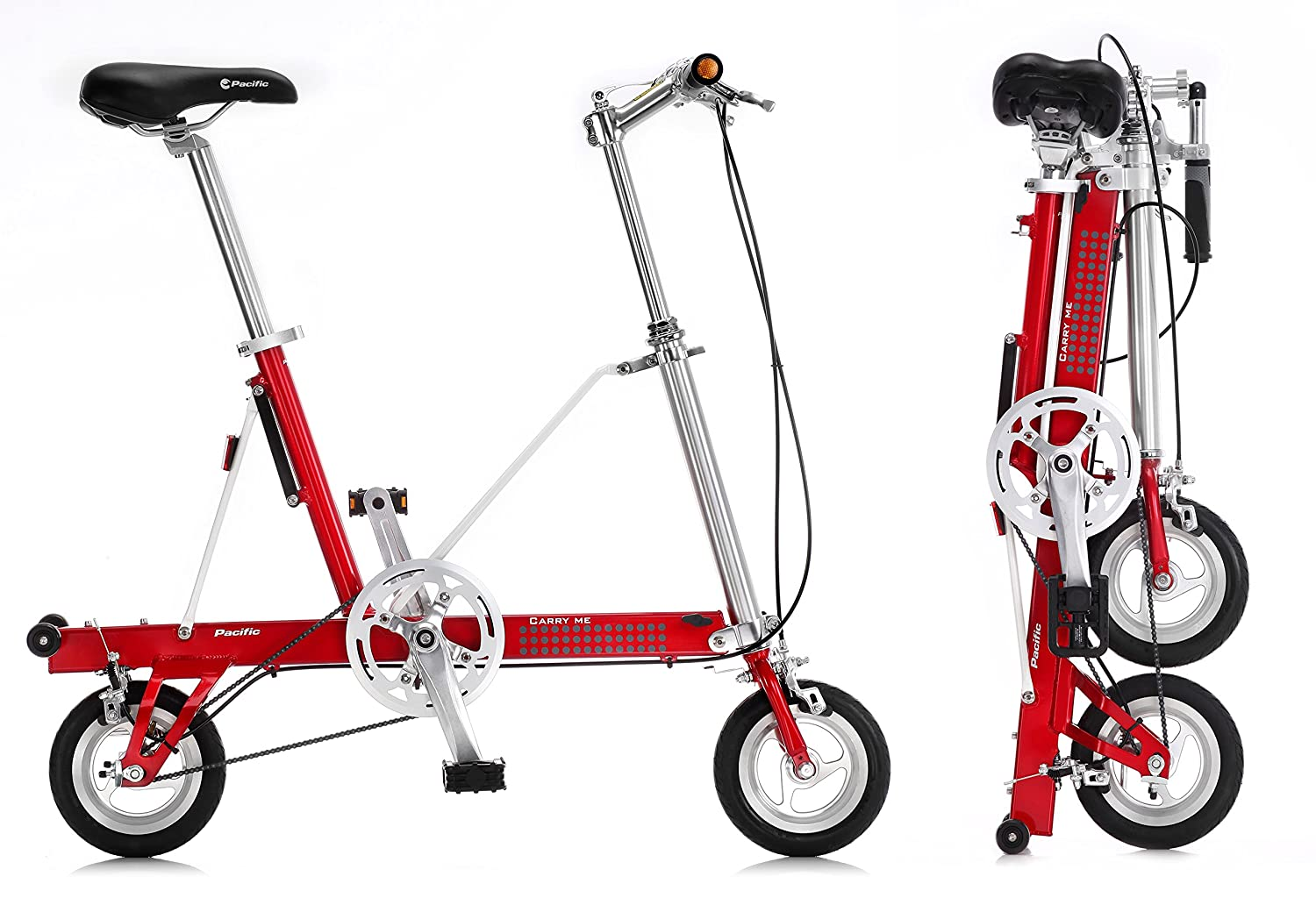Bicicleta plegable CarryMe DS (Dual Speed) roja: Amazon.es: Deportes y aire libre