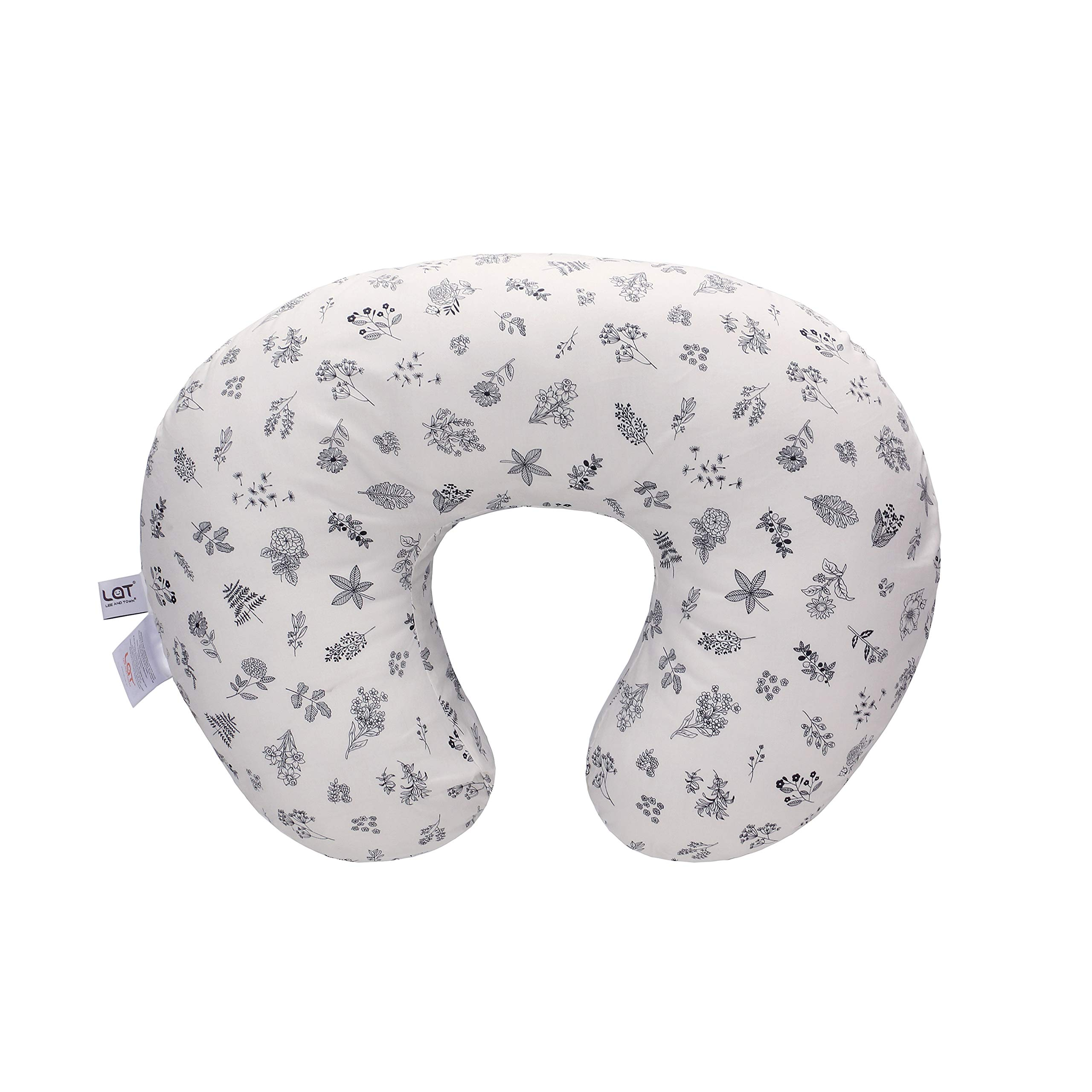 LAT Nursing Pillow Cover,100% Natural Cotton Breastfeeding Pillow Slipcover,Extra Soft and Snug on Baby Nursing Pillow (Plant) by LAT LEE AND TOWN