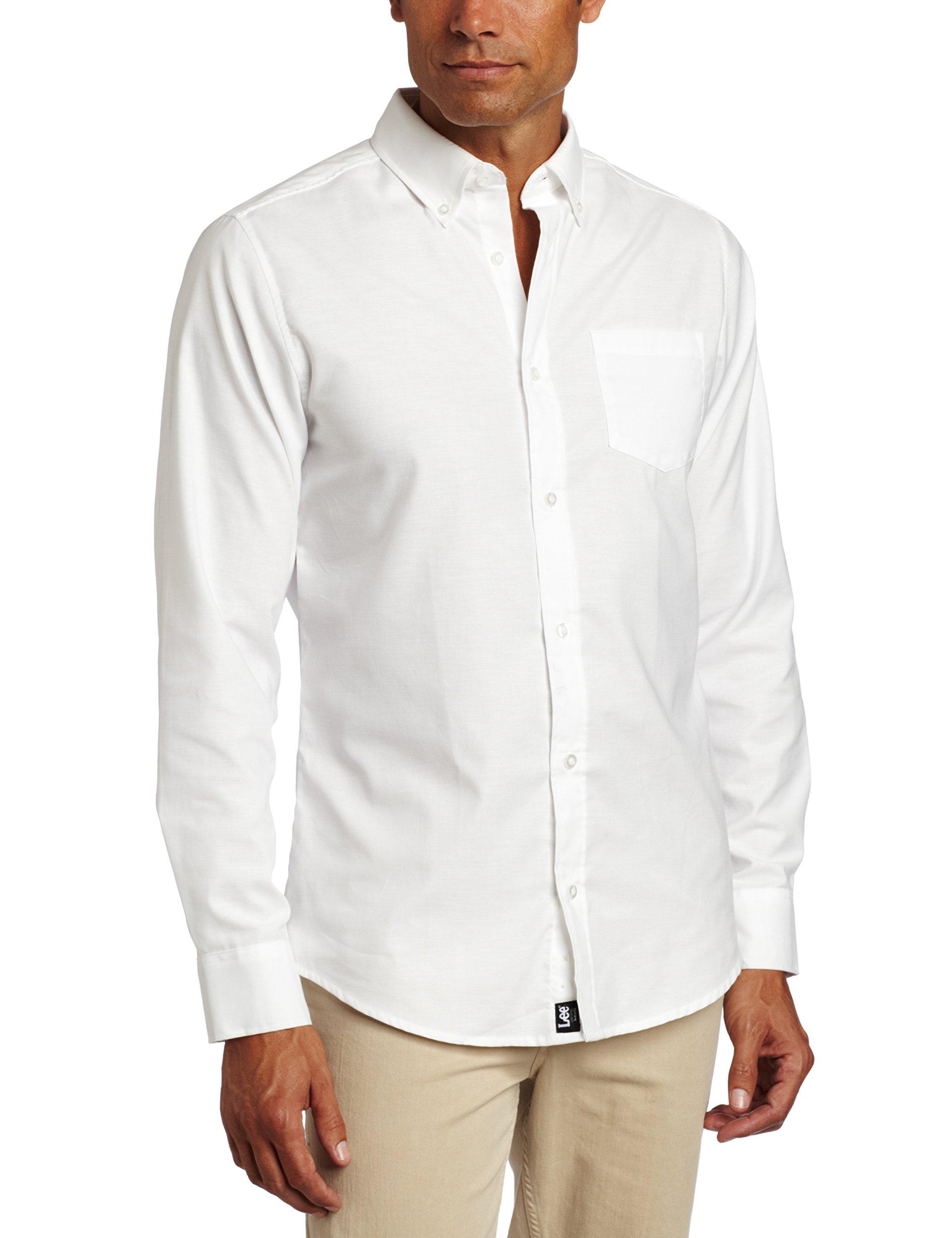 Lee Uniforms Men's Big Long Sleeve Shirt, White, XXX-Large