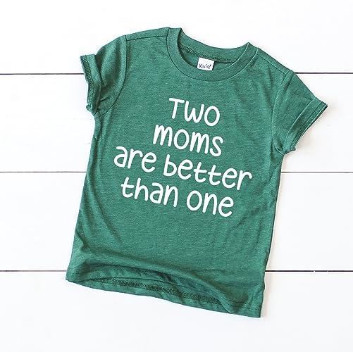 6b9f36437 Amazon.com  2 moms baby tshirt lesbian moms baby clothes  Handmade