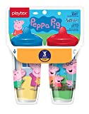 Playtex Sipsters Stage 3 Peppa Pig Spill-Proof, Leak-Proof, Break-Proof Insulated Toddler Spout Cups, Unisex - 9 Ounce - 2 Count
