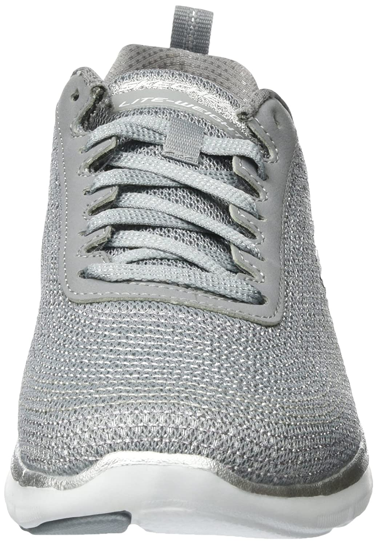 Skechers Women's Low Shoes Sneakers 12764 Gray B01FXHZBOO 5 M US|Silber