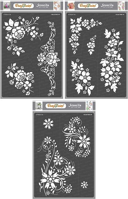 Puppy Bows ~ Craft stencil ENGLISH IVY VINE trim scrapbook wall art home decor