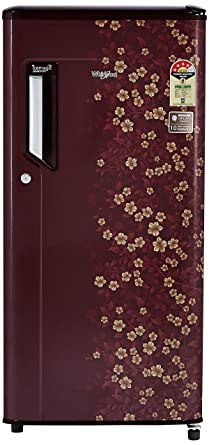 Whirlpool 185 L 4 Star Direct Cool Single Door Refrigerator(200 IMPC PRM 4S WINE DIOR-E, Wine Dior)