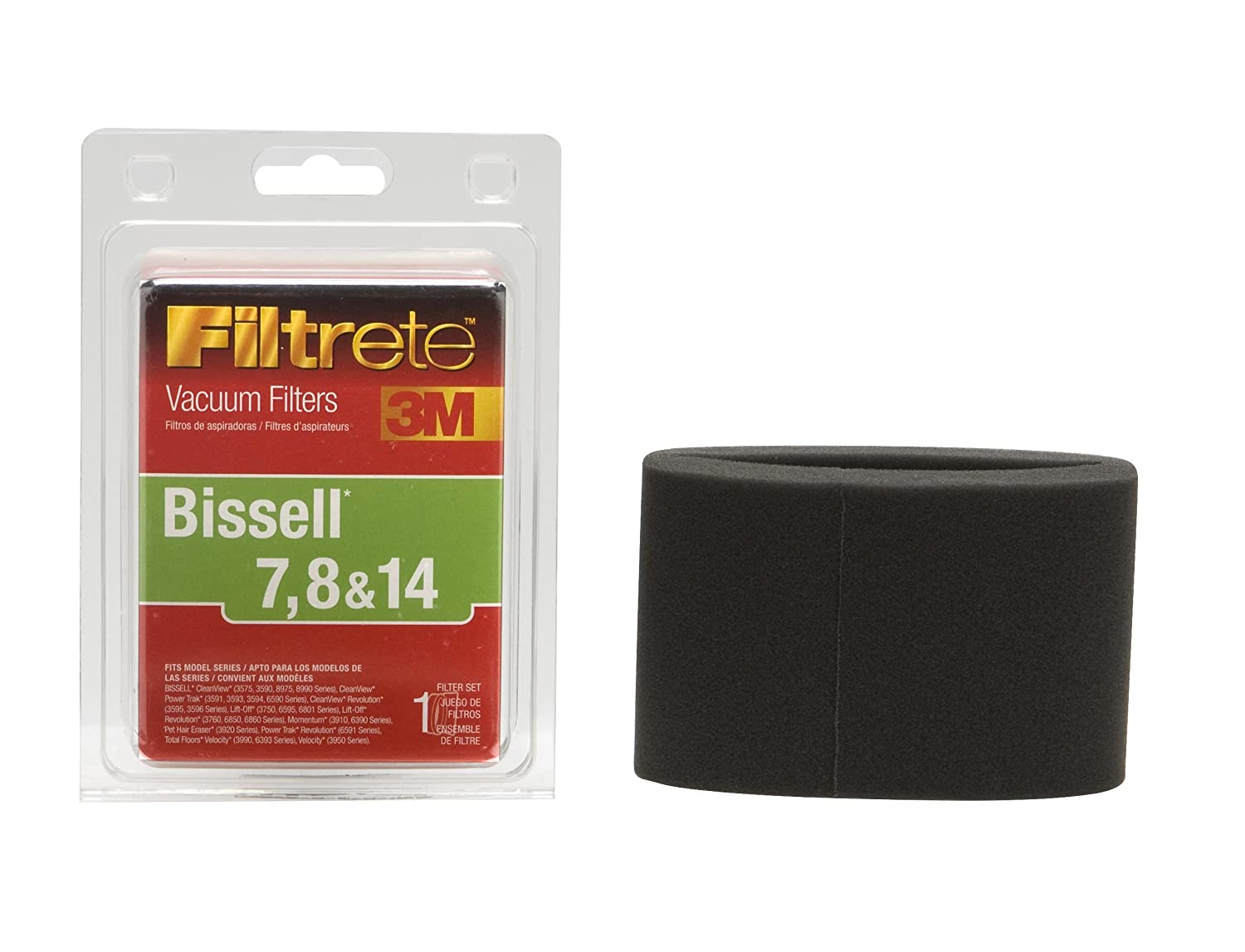 Amazon.com: 3M Filtrete Bissell 7, 8 & 14 Allergen Vacuum Filter: Home & Kitchen