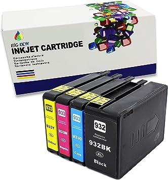 932 XL /& 933XL Ink Cartridge for HP OfficeJet 6100 6600 6700 7110 7610 7612