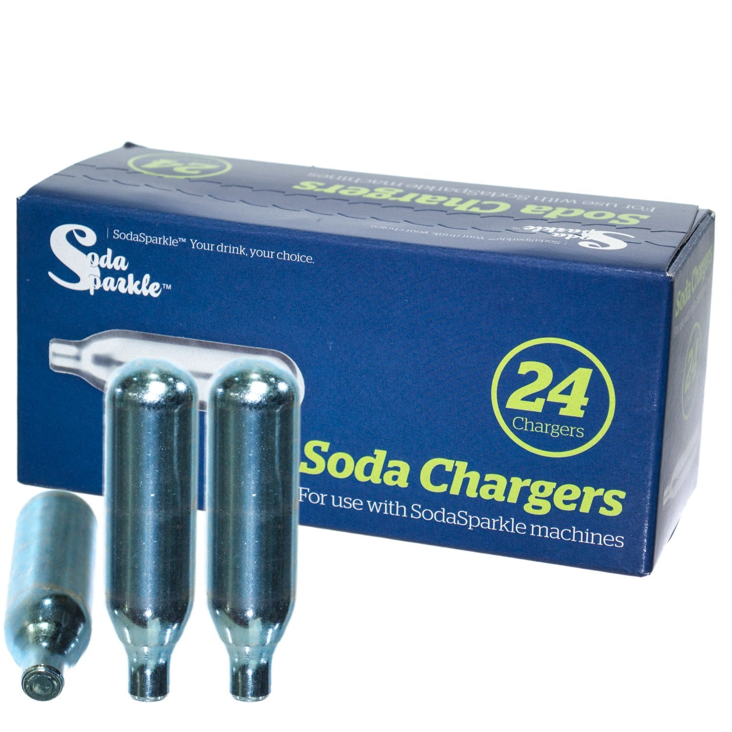 Soda Sparkle CO2 Cartridges, Pack with 24 Soda Chargers