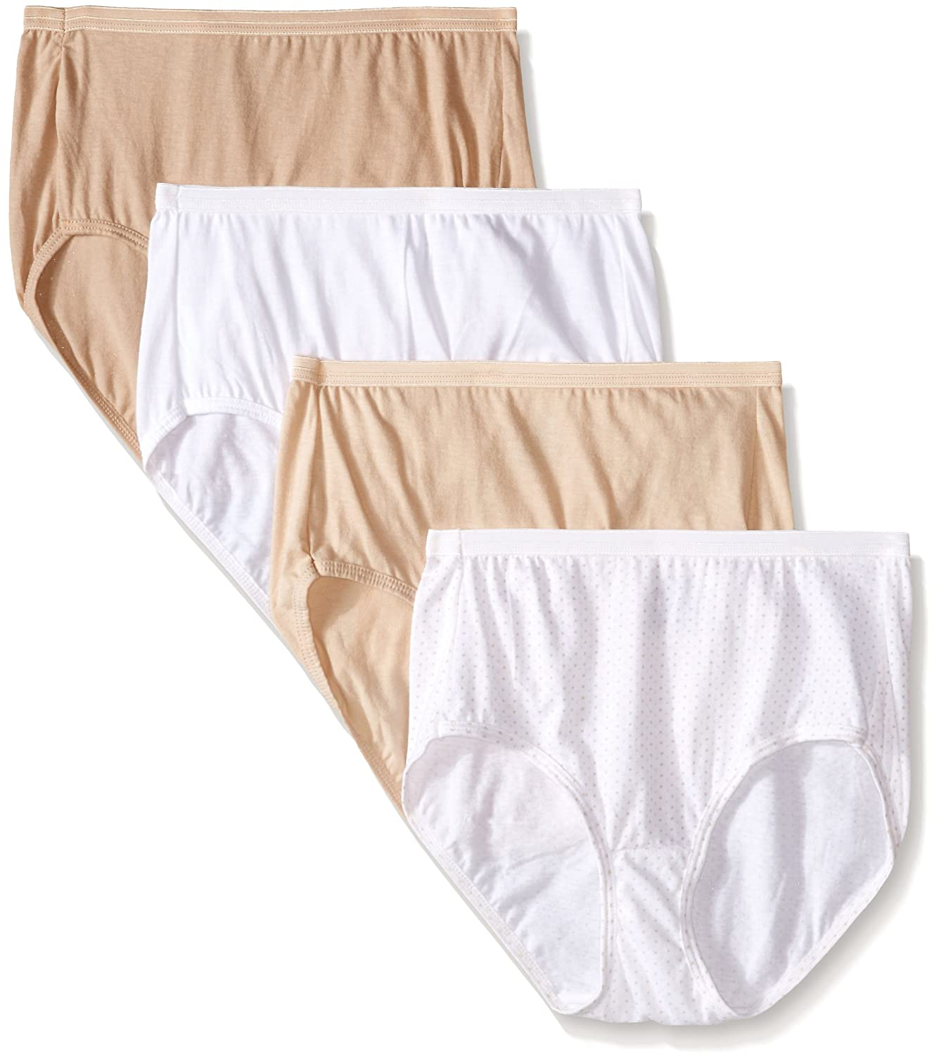 Hanes Ultimate Womens 4-Pack Brief Panties at Amazon Womens Clothing store: Briefs Underwear