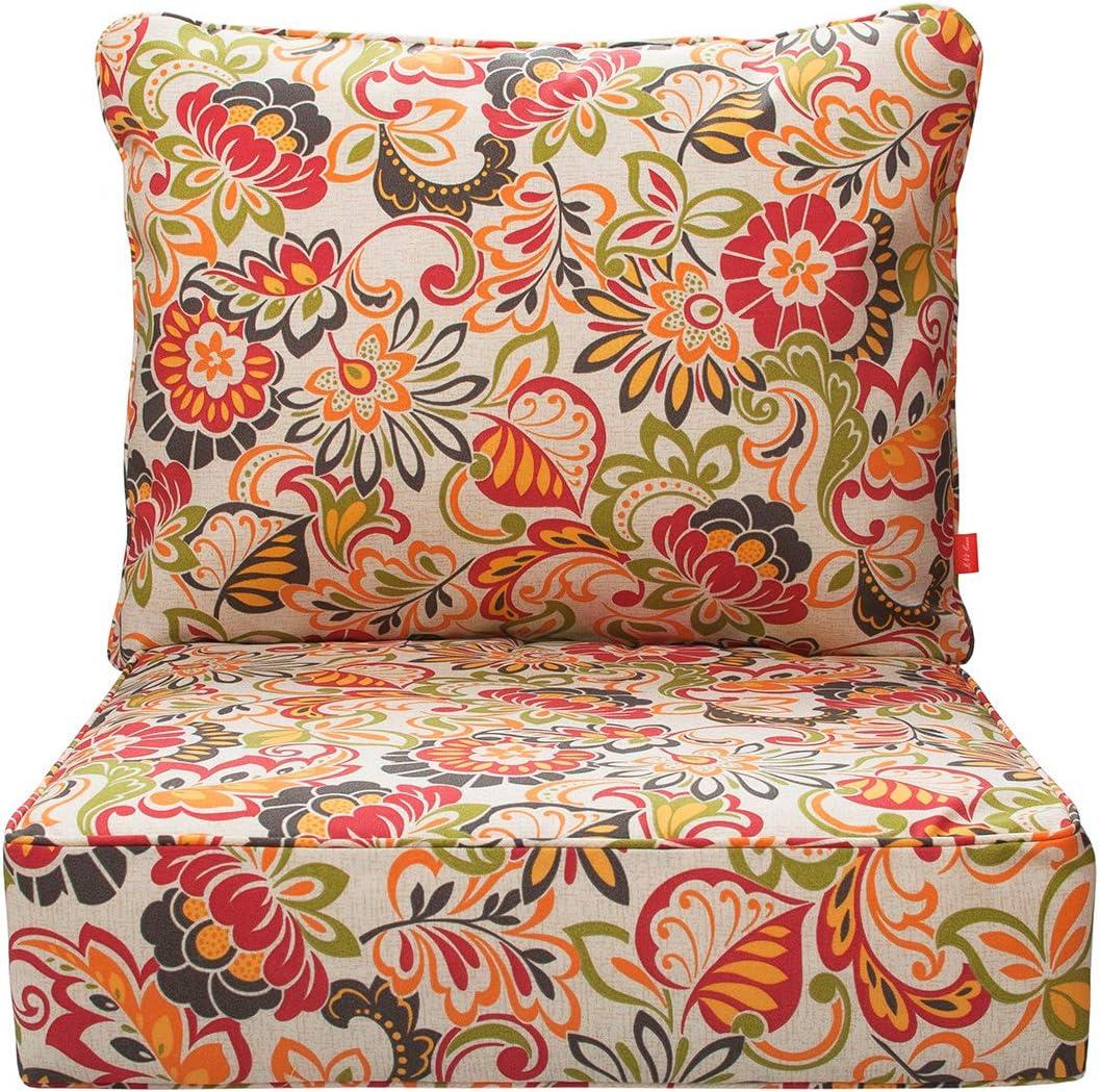 FUNHOOM Indoor/Outdoor Deep Seating Cushion Set, 24