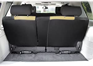 FH Group FB039013BEIGE Multifunctional Cloth Split Bench Car Seat Cover (Full Coverage Car Bench Cover- Backrest is Covered on All Sides)