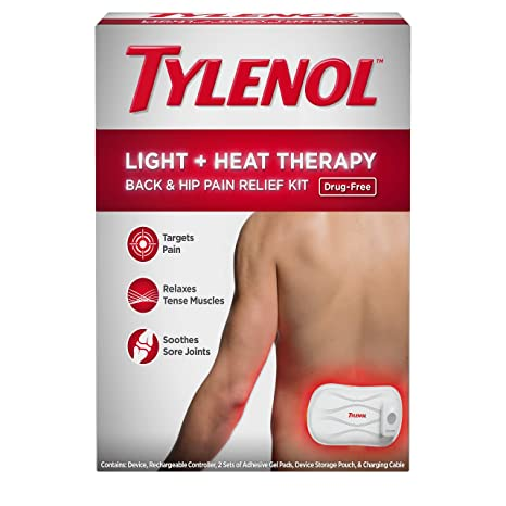 Amazon.com: Tylenol Light + Heat Drug-free and Cordless Wrap Therapy Back & Hip Pain Relief Kit,, 6 Items: Health & Personal Care