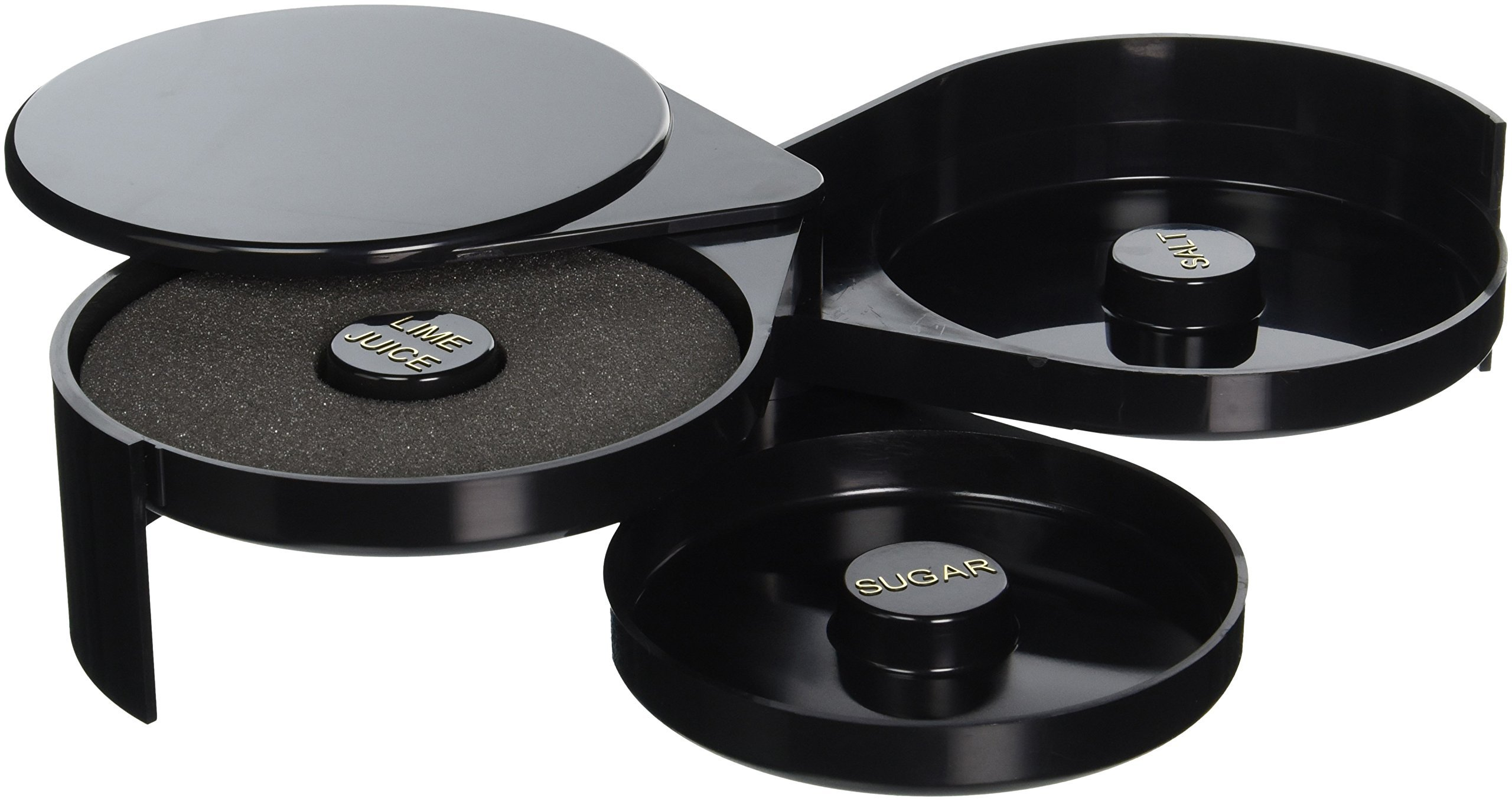 TableCraft's Glass Rimmer ABS Plastic, Includes 3 Swing Out Trays (H633)