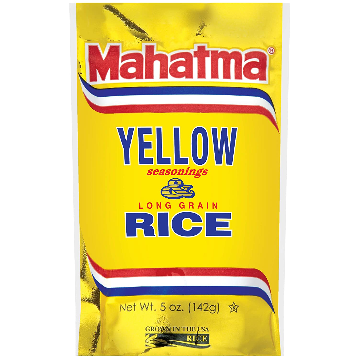 Amazon Com Mahatma Yellow Seasonings Long Grain Rice Gluten Free Non Gmo Vegan 5 Oz Bag White Rice Produce Grocery Gourmet Food